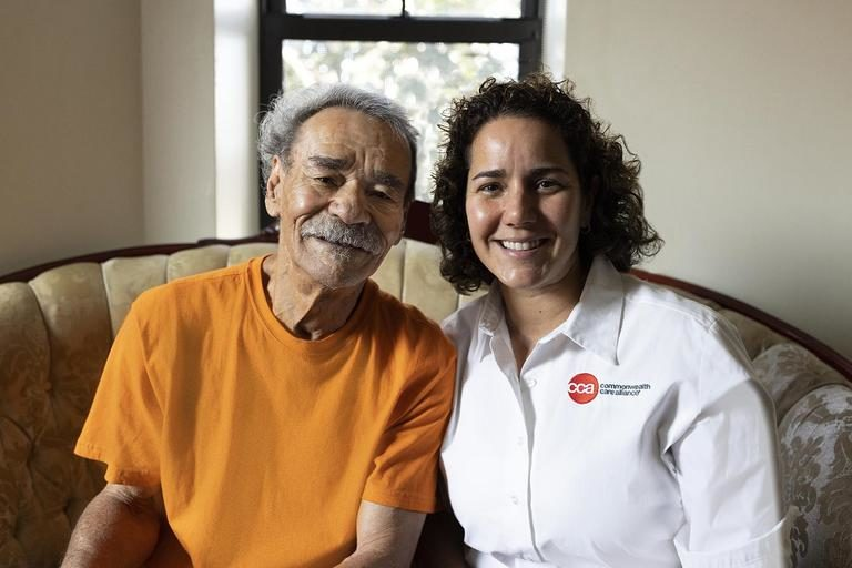 Image of CCA Member Jose and his care partner Maria